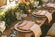 Wedding tables decorations and mise en place