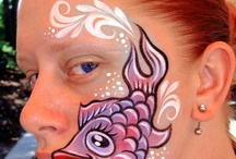 Face painting - ocean