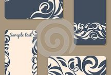 Invitations, business cards
