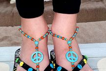 Girls Foot Jewelry / Fashionable children's foot jewelry designed to be worn barefoot or with sandals. Perfect birthday gifts and party favors.