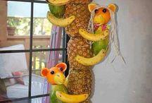 Fruit and veg centrepieces