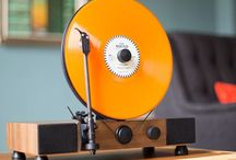 Floating design  recordplayer gramovox