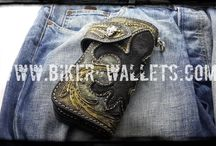 Biker Wallets / Custom Handmade Biker Wallets made from Leather and Exotic Skins