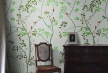 """Dutchoiserie - hand painted wallpaper by Snijder&CO / Snijder&CO is mostly inspired by European nature. Unlike Chinoiserie, their hand-painted wallpaper is a contemporary version of this historic predecessor. A new style they call """"Dutchoiserie"""". The wallpaper is made with pigmented paints and non-woven wallpaper. It is a Dutch original quality product"""