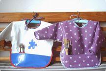 bavoir, tablier et serviette table