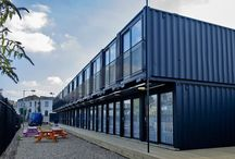 Shipping container accommodation
