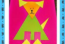 animais / formas geométricas
