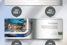 Realstate brochures - Plaquette commercial / #graphicdesign