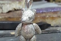 silver teddy bear / made by me Cotswold ringmaker in good old Cirencester
