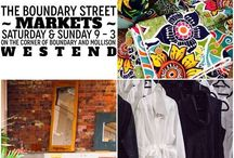 Boundary Street Markets / ABSOE Carpark 51 Mollison Street Cnr Boundary & Mollison Streets, West End, 4101.  Every Saturday and Sunday 09:00am - 3:00pm.  Or in other words... opposite Three Monkeys @ West End!