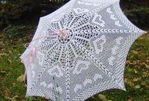 parasolki na szydełku