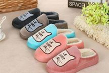 Cat Slippers / Discover and buy from our  selection of fuzzy, comfy, cozy, fluffy, soft, warm Women and Men's Cat slippers..oh yes, and adorable :) We offer a great deal to Your paws because they deserve this treat and so do you!.