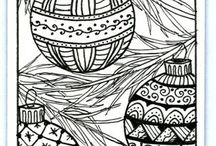 X-mas coloring pages