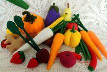 FELT FRUITS & VEGETABLES