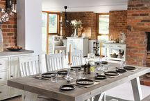 Dining Sets / Reclaimed wood dining sets by Modish Living.