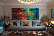 Large abstract oil paintings