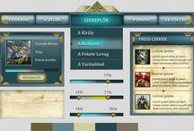 Fantasy design / FANTASY webdesign by webTrendező / A webTrendező által létrehozott FANTASY design alapon nyugvó látványvilág