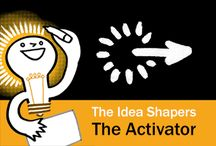 The Idea Shapers: The Activator / In her 2016 book The Idea Shapers, Brandy Agerbeck makes visual thinking attainable and enjoyable through a set of 24 Idea Shapers. The Activator is the fourth visual thinking concept in the fifth and final step, GRASP.
