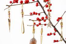 DIY - Julepynt i kobber og guld / Smuk julepynt til at hænge i vinduet, på juletræet eller lignende.