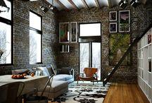 brick walls interior design