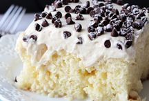 Cake-poke cakes