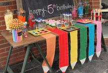bsck to school theme bday
