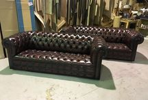 Vintage Chesterfield Sofas & Chairs