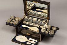 Vintage makeup boxes