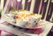 Light The Way / OOOoo Candles ... Inspirational images to get those creative juices running :0)     P.S Don't you just love teacups!