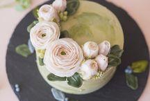 цветы из крема