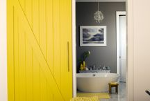 House styling / Yellow door!!