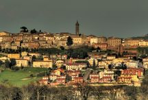 """The Medieval Village of Peccioli / A village in Tuscany where you can stay with the concept of """" A Village as your Hotel """" see website http://www.hotelpeccioli.it/en/"""