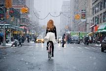 Vélo | Urbain / C'est beau un #vélo en #ville! Le meilleur mode de #transport sans pollution.