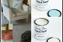 Chalk Paint® on Couches and Chairs / The Purple Painted Lady loves Chalk Paint® by Annie Sloan and all of the amazing things you can do with it- like painting your couch or fabric chairs!