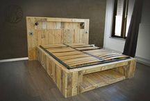 cama en madera