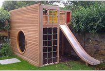 playhouse and climbing frame