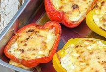 Paprika mit Hüttenkäse