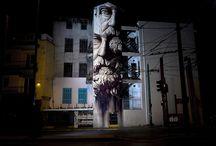 INO - Visual Artist / Visual Artist Work Samples  Graffiti / Street / Art / Works / Canvas / Painting / Murals / Urban / Design / Publications