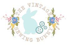 Vintage sewing bunny