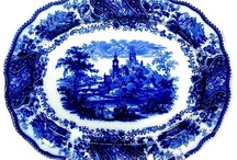 Blue and White  / Fun with the colors of Mother's Blue Danube, Spode, Johnson Bros. and Blue Willow. Oh, and Flow Blue, too! / by Claudia Pierce