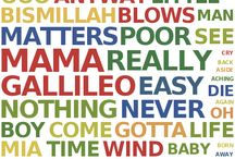 Word Clouds of Song Lyrics / by EJ O'Connor