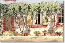 Acquarello - Case, porte, finestre