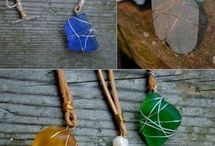 Beach Glass / A collection of arts and crafts made with beach glass
