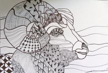 Zentangle art by kat gottke