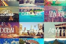t . r . a . v . e . l  / Places i dream and aim to visit before i die, because life is too short not to. Learning YOLO