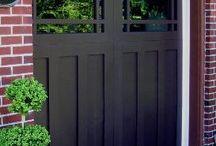 Garage Doors - Black Doors