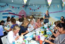 Hen Parties / The Clay Studio is a great place for a unique hen party.