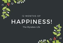 12 Months of Happiness / Each month I will share what had made me happy in the ending month and you're welcome to pin your posts but please limit pins to 1 per day and make sure to share the love by supporting other pinners and repinning their links. If you'd like to be added to this board, follow me and email MYRABEV @ gmail [dot] com. Let's get pinning! :)
