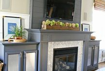 Fireplace Surrounds / Each was chosen to illustrate a particular element. None represent the perfect design.