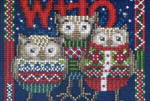 Christmas Kits ~ Birds / Choose your favorite Christmas birds - Cardinals and Doves - for your stitching pleasure! Kits come with all beads, treasures, floss, perforated paper, and even the needles for the project -- all at a considerable savings over purchasing the materials separately.